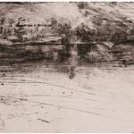In Divenire, 2012Softground, etching, aquatint, mezzotint, sugar lift aquatint, roulette, drypoint on zinc – mm 131x390Edition: 15 PdA - Paper mm 500x700 – printed by the artist