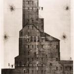 Vasil KolevPenetration, my houses, 2015Etching, aquatint, drypoint - mm 1000x700