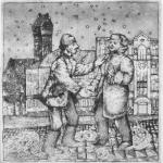 Olga TereshchenkoMeetings in the old town, 1985Etching, open bite etching – mm 123x120